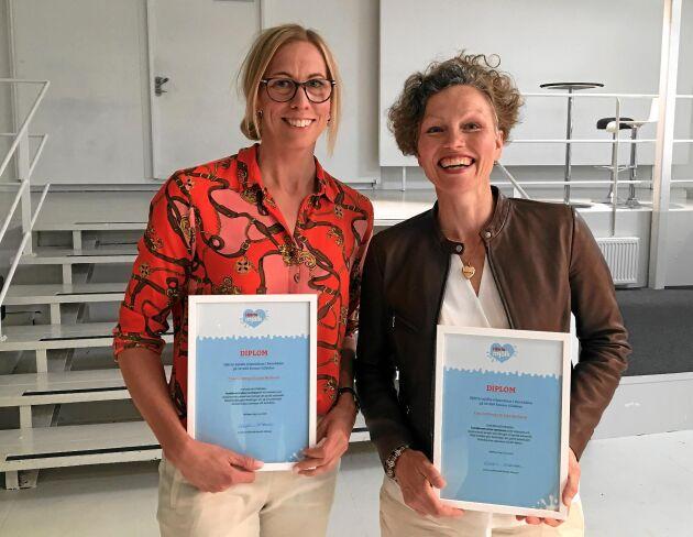 Julia Backlund och Tina Dahlberg är vinnare av Hjärta mjölks matpris. Foto: Joel Linderoth.