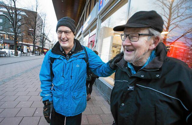 """Erik Holm och Kjell Karlsson är försiktigt optimistiska inför projektet. """"Än vågar vi inte ropa hej""""."""
