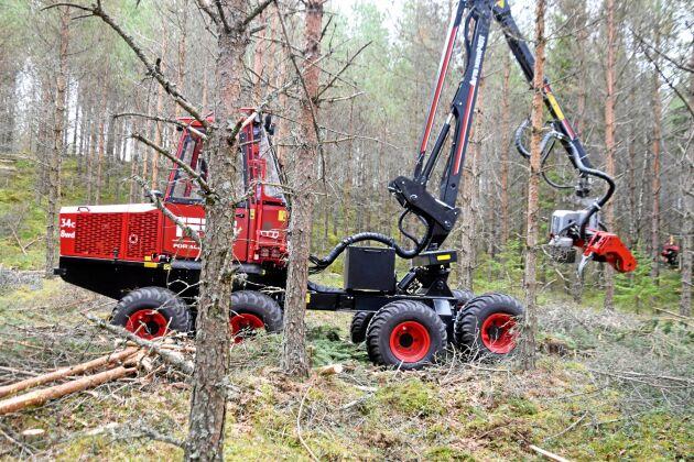 Terrin är en av de mindre skogsmaskiner som erbjuds på marknaden.
