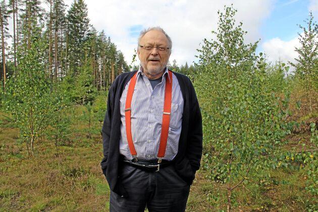 """Positiv. """"Det är bra för skogen, det är bra för Sverige. Nu får de bara ge oss signaler om fortsättningen så kan det bli jäkligt bra"""", säger Björn Gillberg som vill göra drivmedel av svensk skogsråvara."""