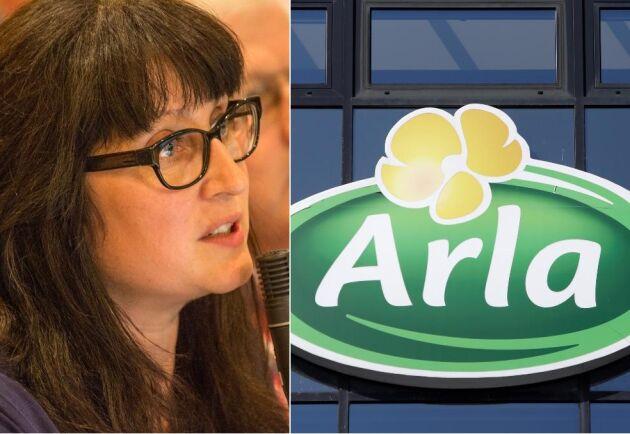 Inger-Lise Sjöström är styrelseledamot i Arla och mjölkbonde. Bilden tagen 2016.