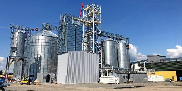 Lantmännens nya anläggning för spannmål snart färdig