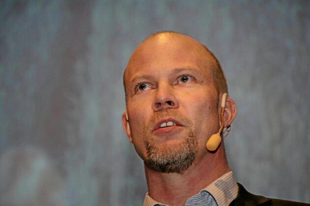 Joakim Borgs representerade LRFs riksförbundsstyrelse och talade bland annat om den nya kampanjen Tänk om.