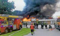 Skånsk växthusbrand släckt – allt brann ned