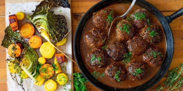 Saftiga porterbiffar med mustig sås – perfekt för hungriga magar