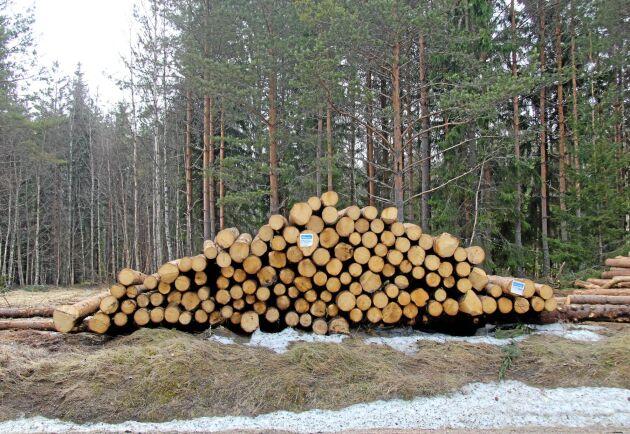 Byråkratin och avgifterna kring virkesupplag intill allmän väg får inte gå ut över de enskilda skogsägarna, skriver Centerpartiets Anders Åkesson och Peter Helander.