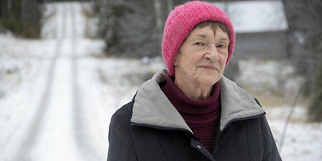 82-åriga Lajla får ingen snöröjning i vinter