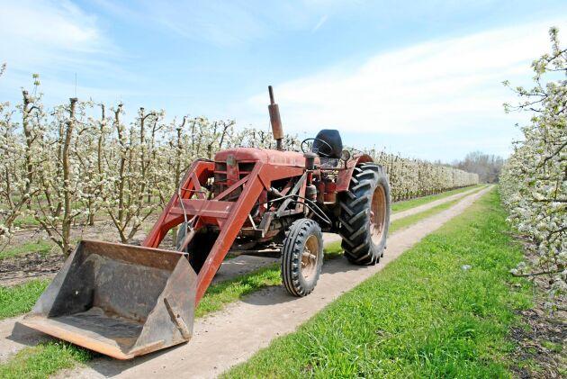 När vi besökte Fernando Caldero Terrado i Corbins användes den här BM 470 Bison fortfarande i fruktodlingarna.