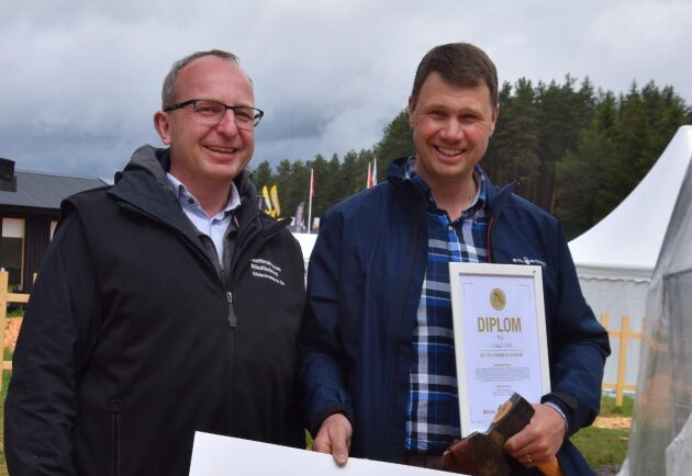Mikael Wik, till höger, fick den senaste Guldyxan.