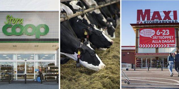 Flera matbutiker stoppar inköp av utländskt kött