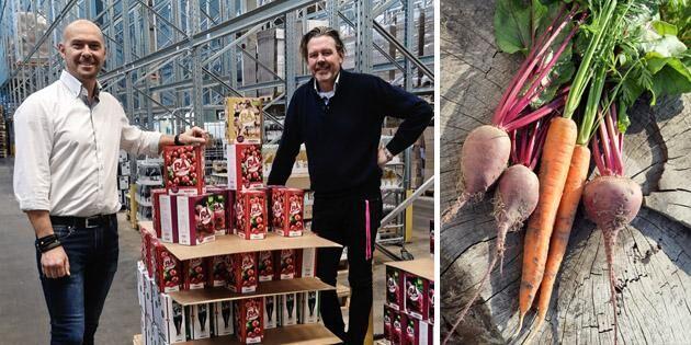 Pressade grönsaker en svensk miljonaffär