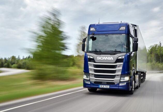 Scania leder statistiken med när det gäller nyregistreringar av tunga lastbilar.