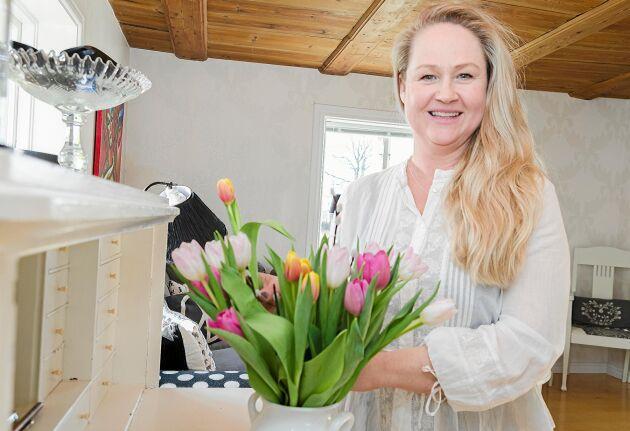 Inredning är ett stort intresse för Anna-Carin som tycker om att göra fint i hemmet.