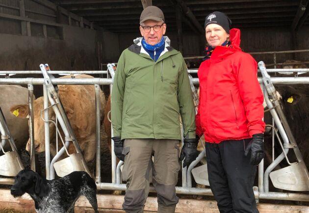 Tomas och Charlotte Jensen driver tillsammans Trossnäs gård utanför Karlstad.