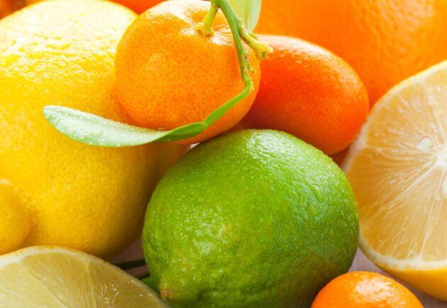 Det kan finnas spår av nervgiftet klorpyrifos i citrusfrukter.