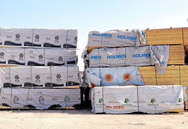 Under fjolåret mer än fördubblades den svenska exporten av trävaror till Egypten.