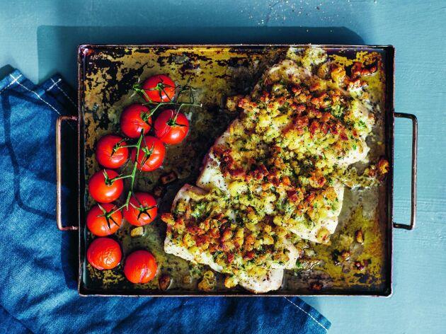 Krispig torsk i ugn. Gott, lyxigt och enkelt.