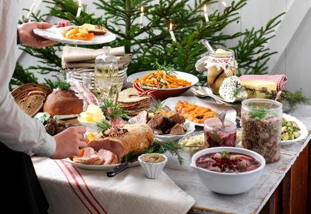 Julbordet blir som vanligt - de flesta tillfrågade i Livsmedelsföretagens undersökning vill ha skinka, must och ris à la Malta.