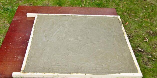 Steg för steg: Så gjuter du en tuff bordsskiva i betong