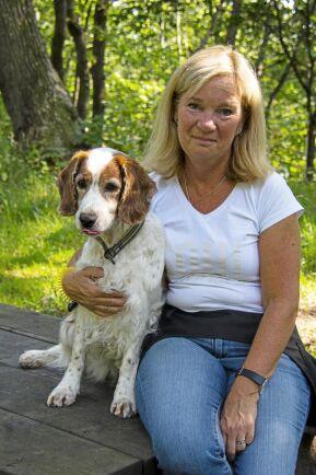 Pia Myrseth och hunden Mynta
