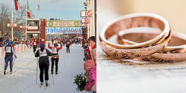 Åk Vasaloppet tillsammans – och gift er vid målgång!