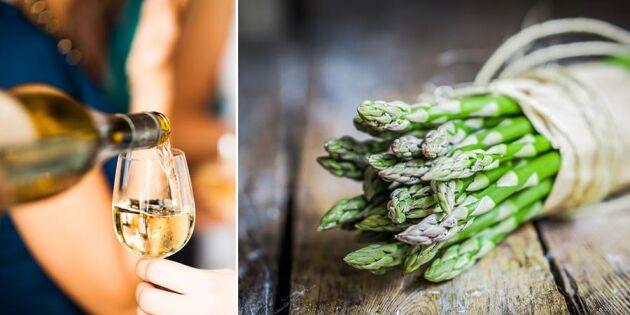 Vin till sparris – experten tipsar