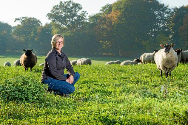 En tur till fårhagen är rogivande, tycker även Maria själv.