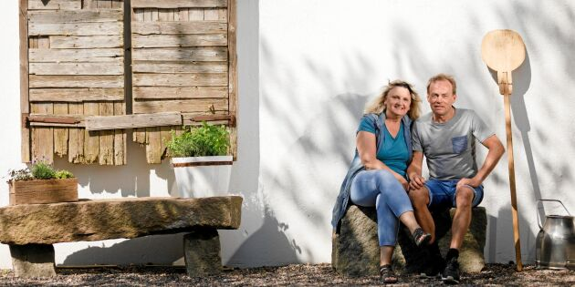 Håkan och Eva-Lena förvandlade sin mjölkgård till en sjudande handelsplats