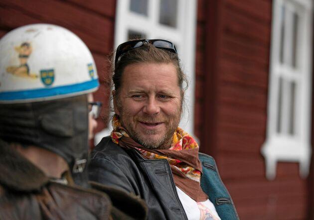 Reine Karlsson vet inte exakt hur många rariteter till moppar han har samlat på sig, men tror att det rör sig om ett 60-tal.