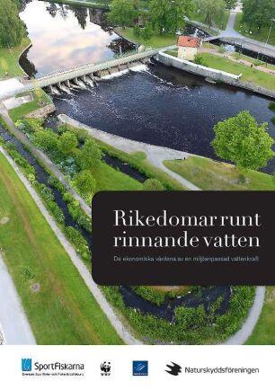 """Rapporten med titeln """"Rikedomar runt rinnande vatten"""" presenterades 2015 av fyra miljö- och intresseorganisationer. Här sattes exakta krontal på intäktspotentialen för olika vattendrag men utan att ge en förklaring till hur dessa räknats fram."""