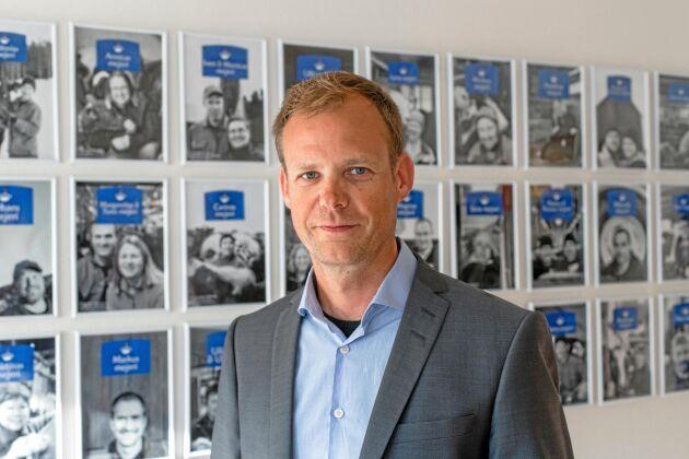 Anders Fredriksson, vd Norrmejerier och talesperson för Svenska bönders klassiska ostar AB.