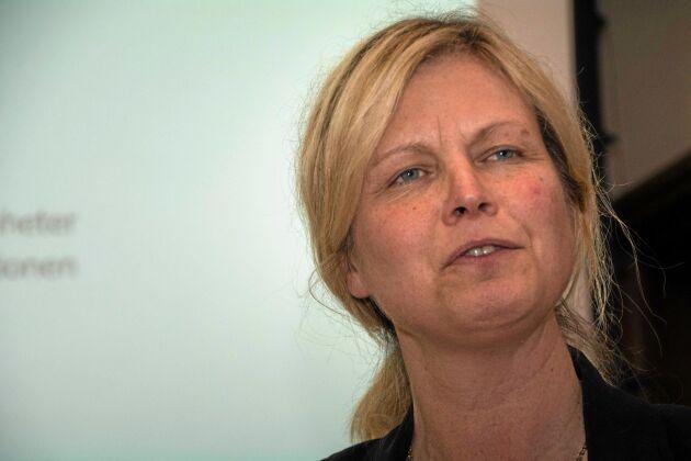 Christina Lundqvist är ordförande för Hushållningssällskapet Värmland, det i särklass minsta av de tre som går samman och bildar Hushållningssällskapet Västra. Verksamheten såldes under förra året till Skaraborg.