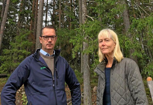 Skogsägare måste behandlas lika, oavsett om det är en privatperson eller staten som äger skogen. Det är Carl Johan Olsson, Södra, och Ragnhild Ivarsson Walther, Sätra gård, tydliga med.