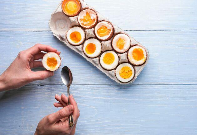 Ägg är mycket rika på det viktiga ämnet kolin.
