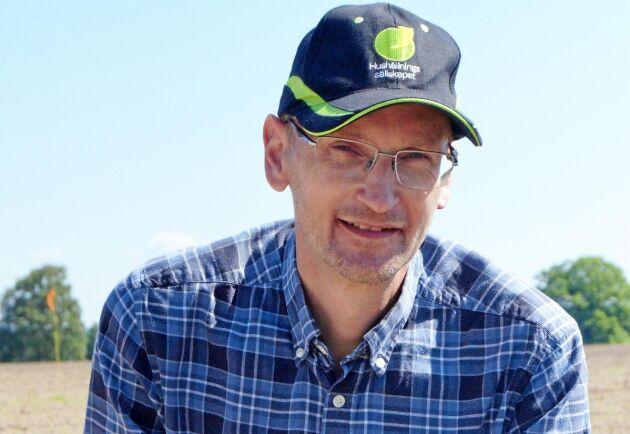 Magnus Nilsson, försöksledare på Hushållningssällskapet i Skåne.