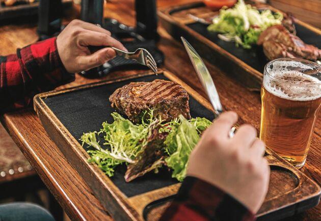 Risken är stor att du blir lurad om var köttet kommer ifrån när du är på restaurang.