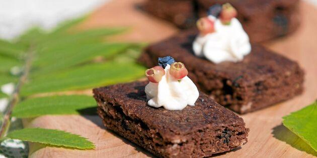 Lyxiga chokladrutor med skogsrussin – naturligt gott!