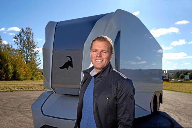 Einrides grundare Robert Falck vill inte se några dieseldrivna självkörande lastbilar på de svenska vägarna.