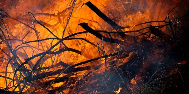Branden i Sörmland fortfarande inte släckt