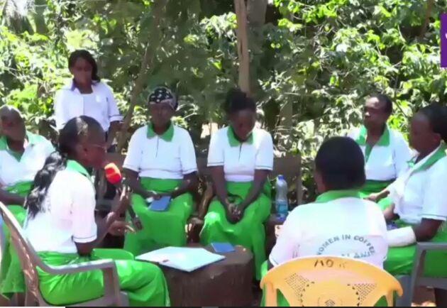 Arbetet med spar- och lånegrupper är en av de mest effektiva metoder som finns för att stärka kvinnors ekonomiska egenmakt och samtidigt en skola i demokrati, enligt We Effect. Här kvinnor från projektet Kilalani Women in Coffee.
