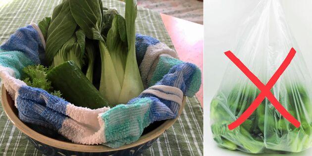 Sy smarta påsen som får grönsakerna att hålla längre i kylen
