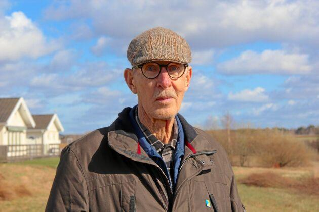 Gunnar Gullander, pensionerad lantbrukare och länsordförande för LRF Halland på 1990-talet. I april 1990 ledde han mejeriblockaden i Halmstad, en av de lokala protesterna mot jordbrukspolitiken som ägde rum vid flera av landets mejerier.