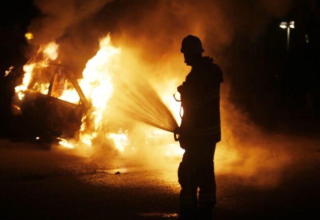 Utredningen av den anlagda bilbranden hos en minkuppfödare går mot sitt avslut, och polisen hoppas kunna hitta den skyldige. (Bilden är tagen vid ett annat tillfälle.)