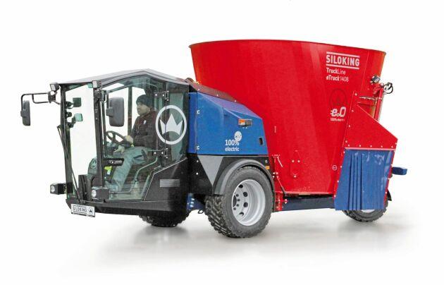 Siloking lanserade häromåret den eldrivna, självgående foderblandaren TruckLine e.0. Maskinen, som säljs genom Kverneland i Sverige, finns i olika modeller med lastvolym från 8 till 14 kubikmeter.