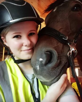 Amanda Svedegård har haft ponnierna i arton år.