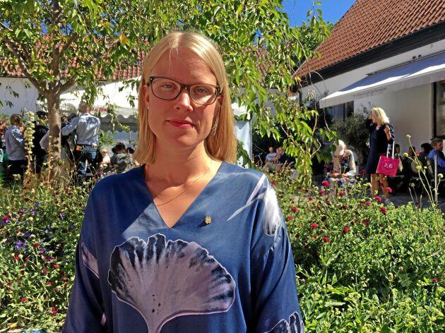 Kristina Yngwe, C, vill att en krisgrupp tar sig an att få till snabba åtgärder för jordbrukare som drabbats av torkan.