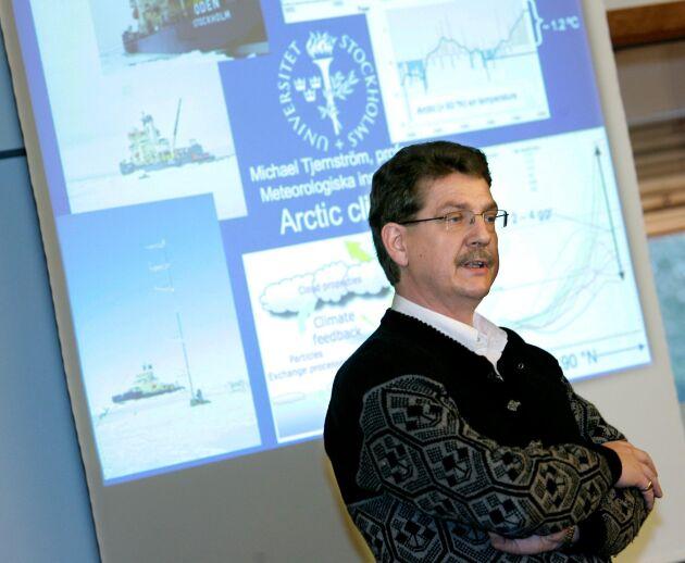 På fredagen var det pressträff i Aula Magna på universitetet i Stockholm med anledning av FN organet IPCC:s klimatrapport. Michael Tjernström var en av de svenska forskare som medverkade och svarade på medias frågor om rapportens innebörd.