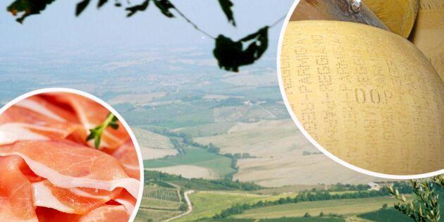 Ursprungsmärkning för all mat i Italien