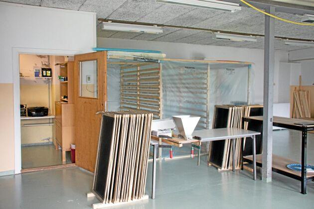 Packrummet. Här torkas först den färdiga produkten som sedan säljs till butiker och privatpersoner i Sverige och Norge.