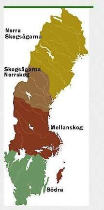 Skogsägarföreningarnas indelning.